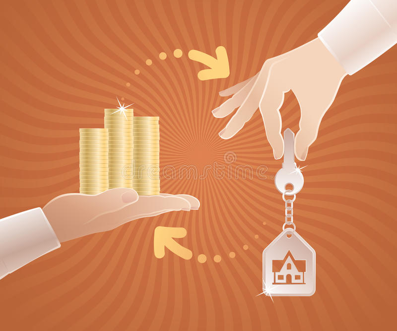 Mercado inmobiliario ilustración del vector