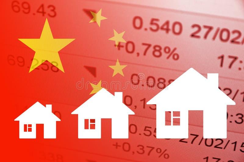 Mercado inmobiliario chino fotos de archivo