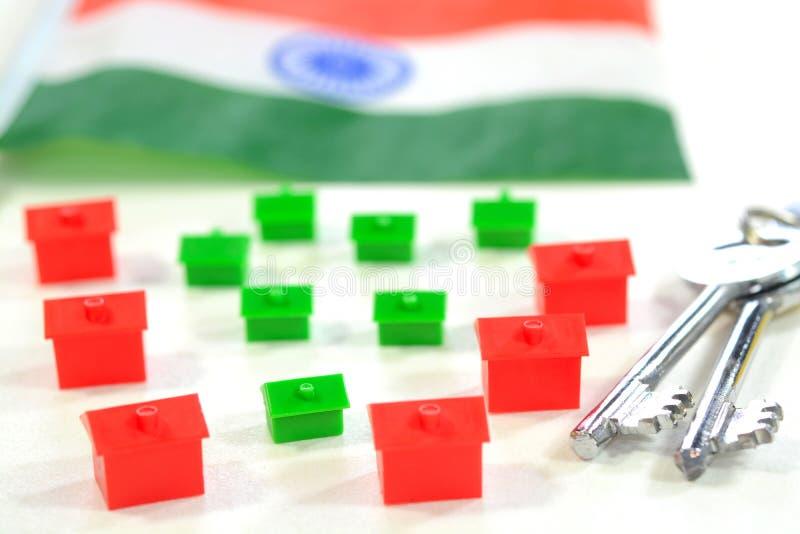 Mercado inmobiliario indio foto de archivo libre de regalías