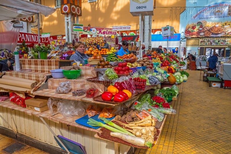Mercado interno Kiev de Bessarabskiy imagens de stock