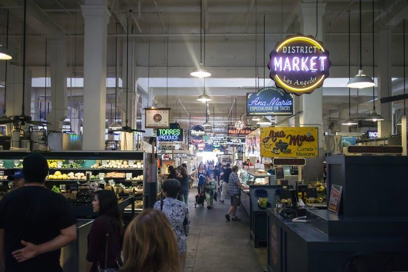 Mercado interno Los Angeles Califórnia de Grand Central fotografia de stock