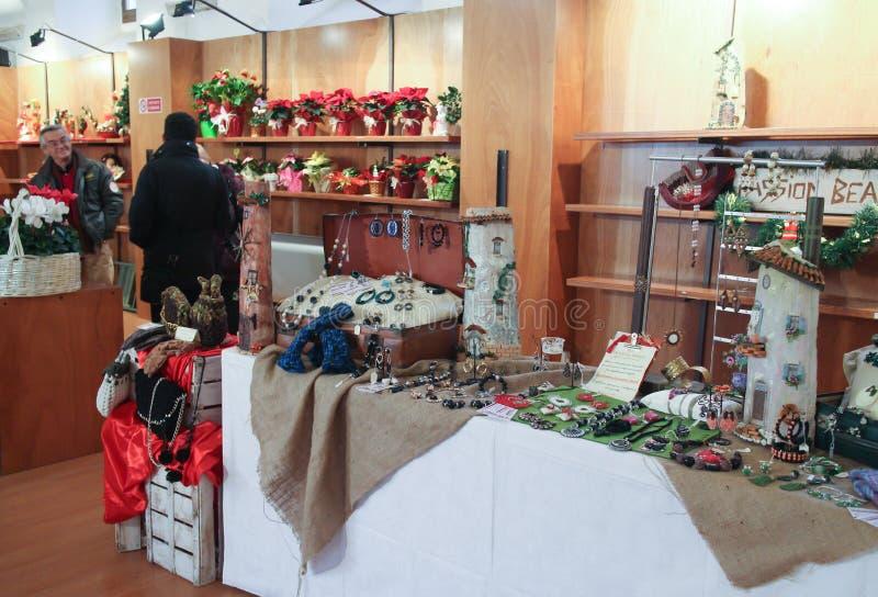 Mercado italiano do Natal fotografia de stock