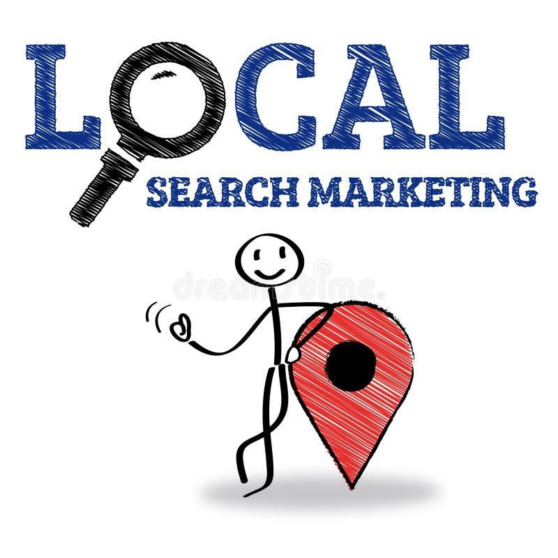 Mercado local da busca ilustração stock