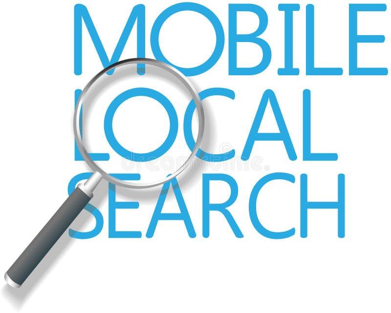 Mercado local da busca do móbil ilustração stock