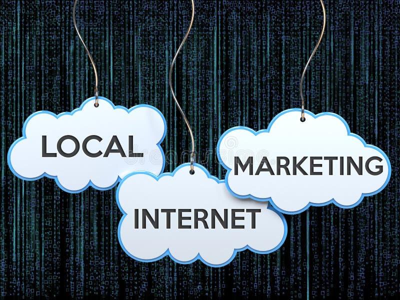 Mercado local do Internet na bandeira da nuvem ilustração royalty free