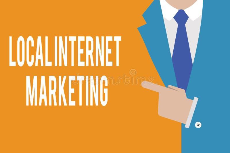 Mercado local do Internet do texto da escrita da palavra O conceito do negócio para os motores da busca do uso para revisões e o  ilustração royalty free
