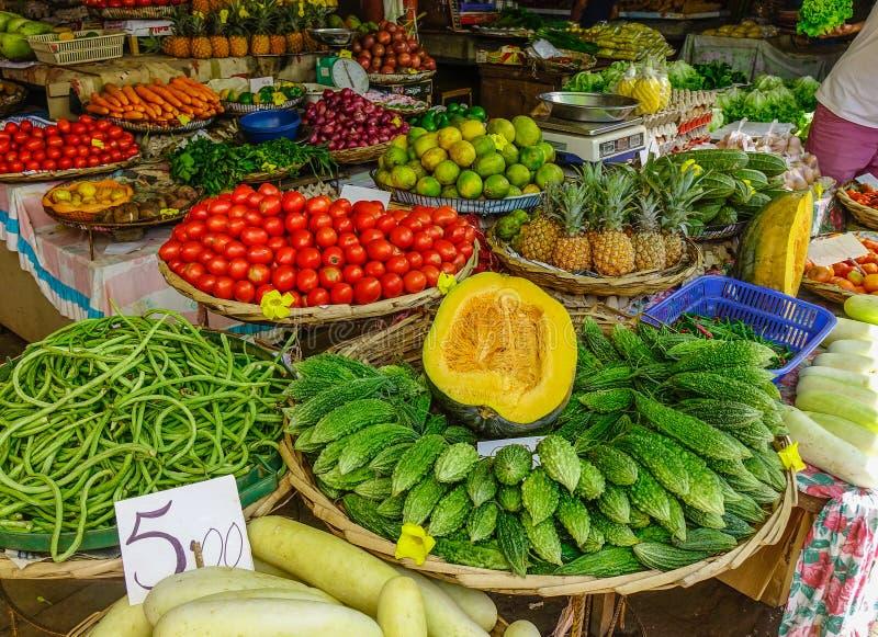 Mercado local em Mauritius Island fotografia de stock