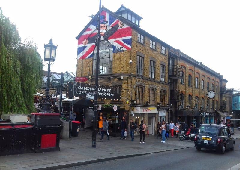 Mercado Londres de Camden imagen de archivo