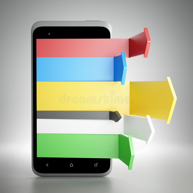 Mercado móvel de Digitas imagens de stock royalty free