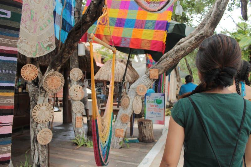 Mercado mexicano em Tulum fotos de stock