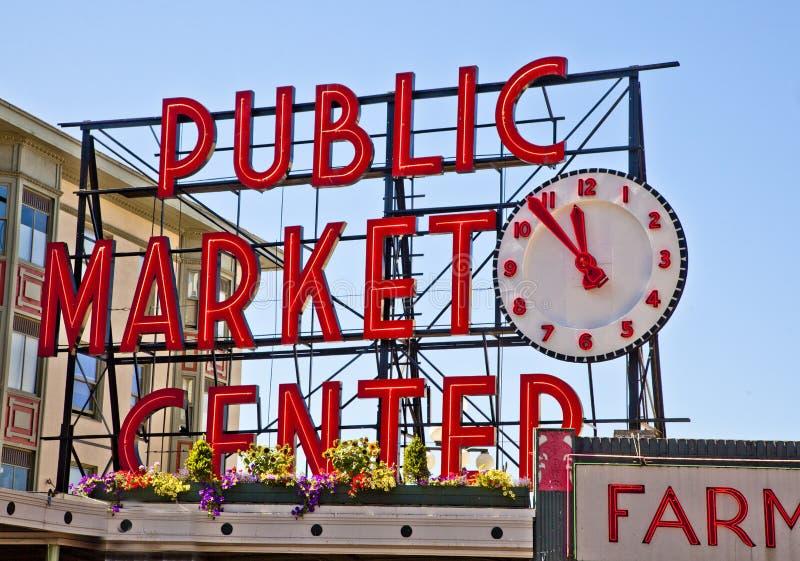 Mercado-Muestra del público del lugar de Pike fotos de archivo