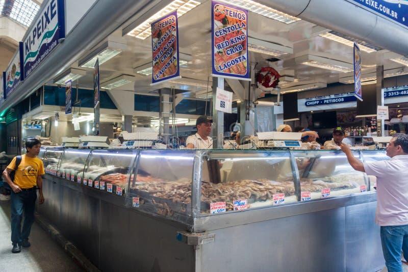 Mercado municipal de Mercado em Sao Paulo imagem de stock royalty free