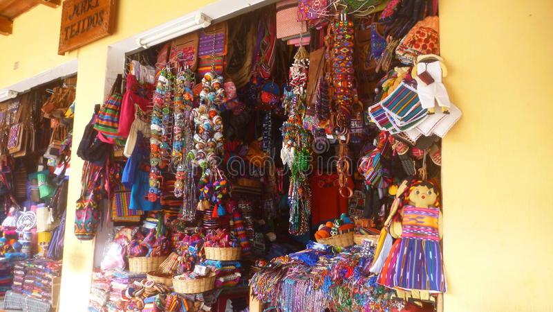 Mercado na Guatemala fotografia de stock