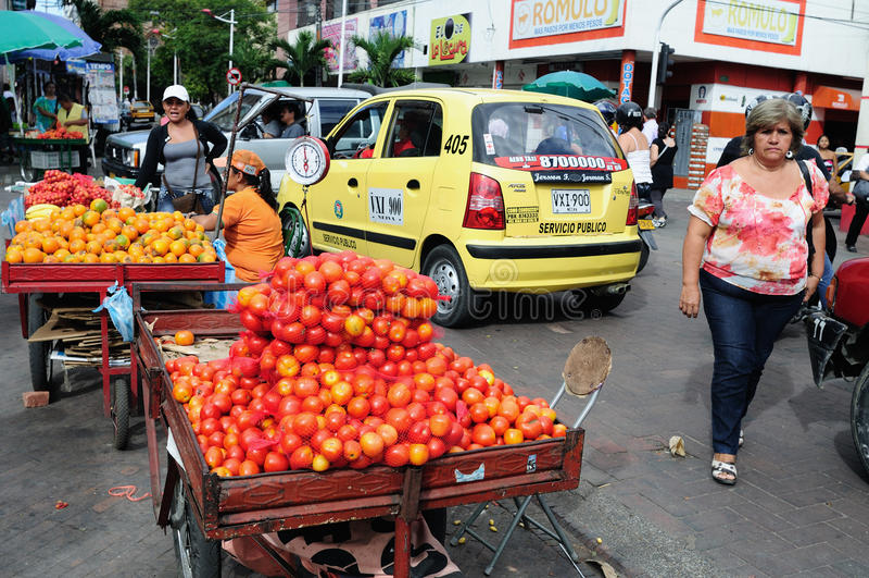 Mercado - Neiva. Colombia foto de archivo libre de regalías