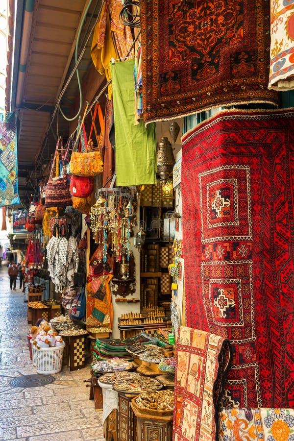 Mercado no Jerusalém fotos de stock