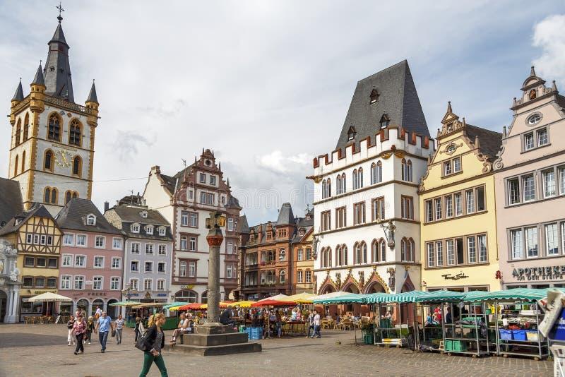 Mercado no Trier Alemanha imagem de stock royalty free