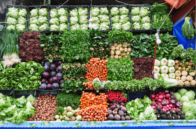 Mercado orgánico imagen de archivo