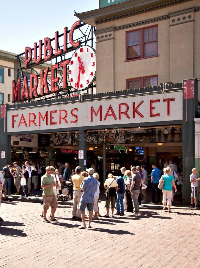 Mercado público de Seattle - del lugar de Pike foto de archivo libre de regalías