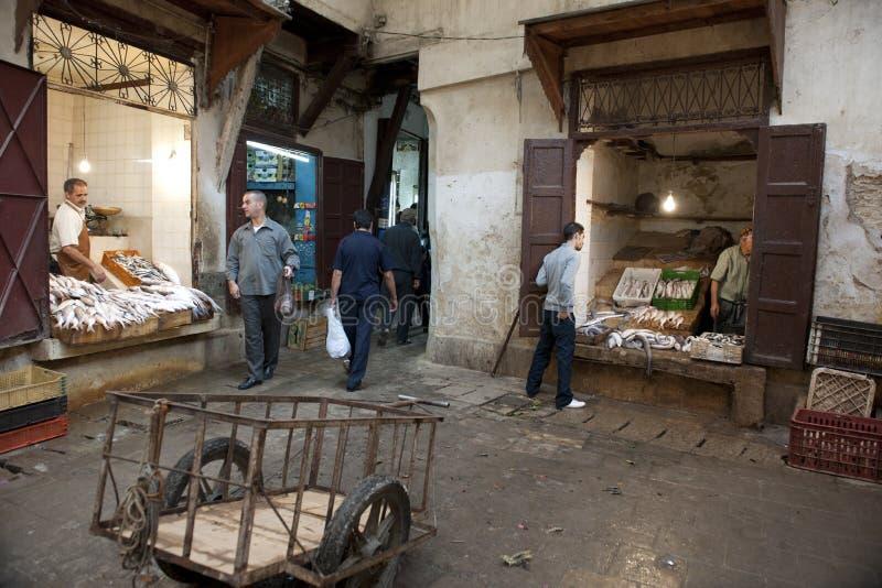 Mercado público en Fes fotos de archivo