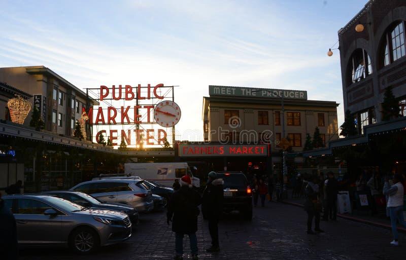Mercado p?blico Seattle foto de stock royalty free