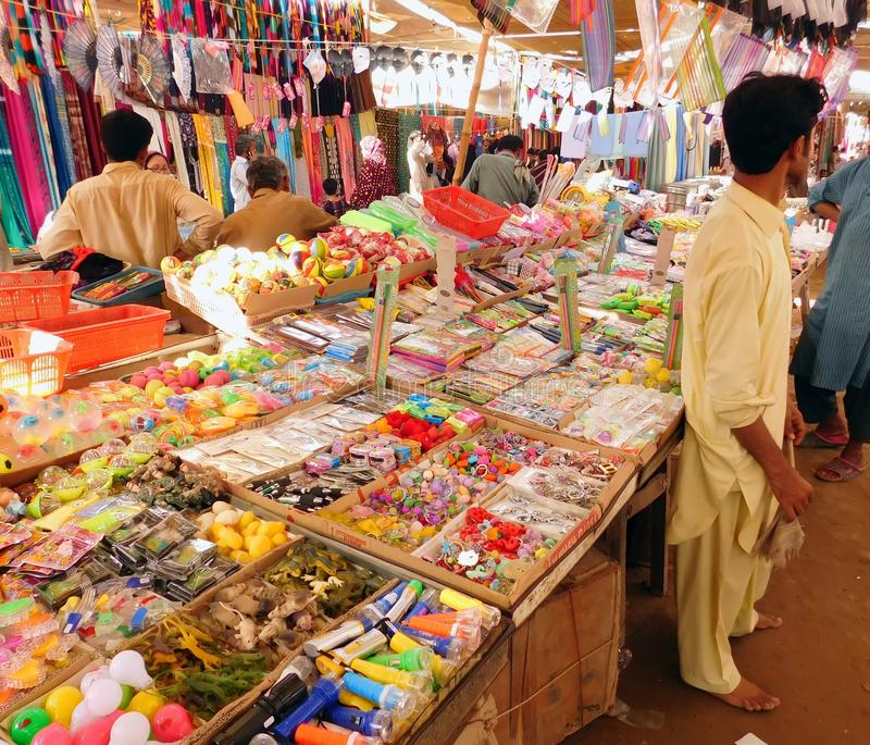 Mercado paquistaní imagenes de archivo