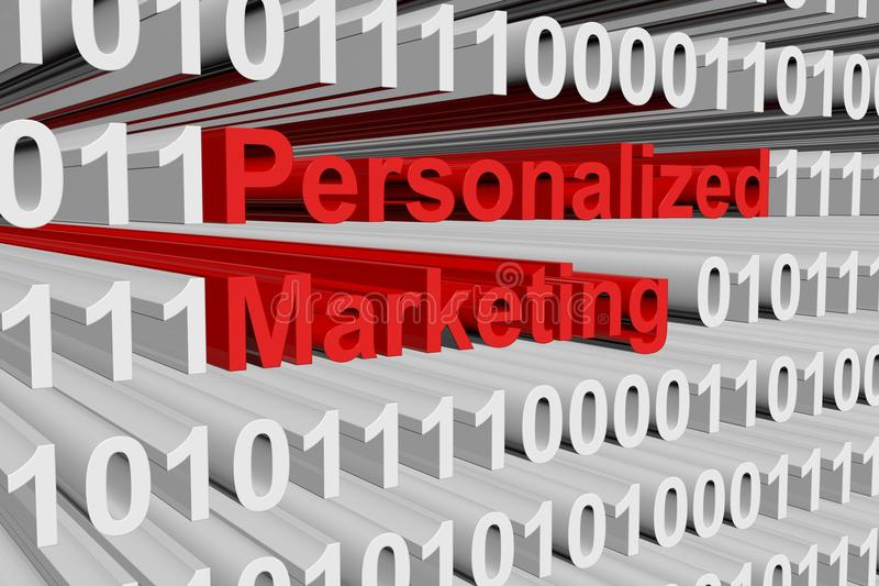 Mercado personalizado ilustração royalty free