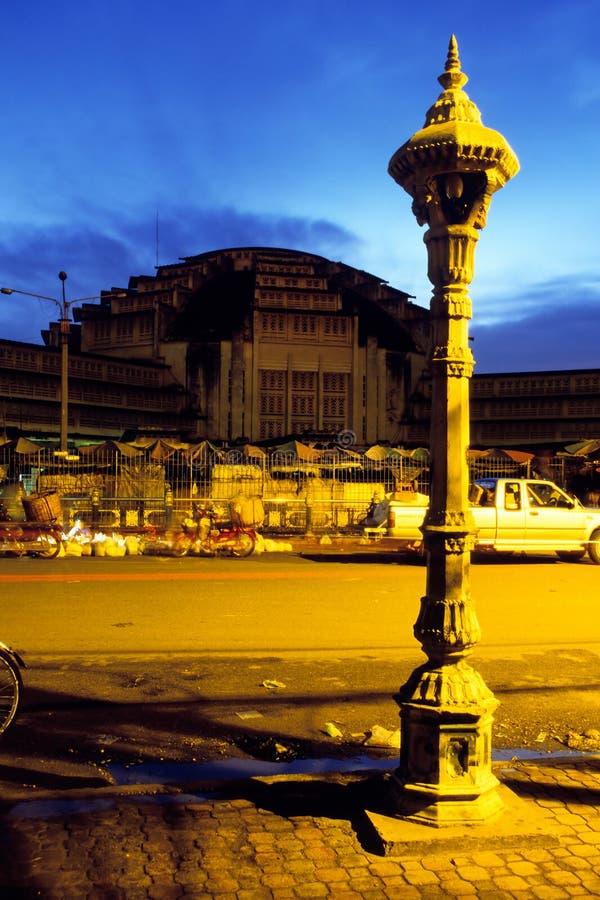 Mercado Phnom Penh, Cambodia foto de stock