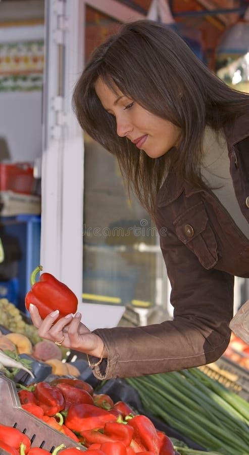 Mercado-pimienta vegetal. fotografía de archivo libre de regalías