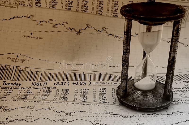 Mercado que mide el tiempo de 3 fotos de archivo