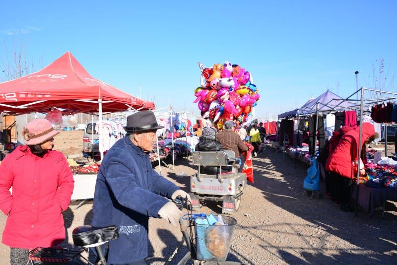 Mercado rural de los granjeros en Pekín foto de archivo libre de regalías