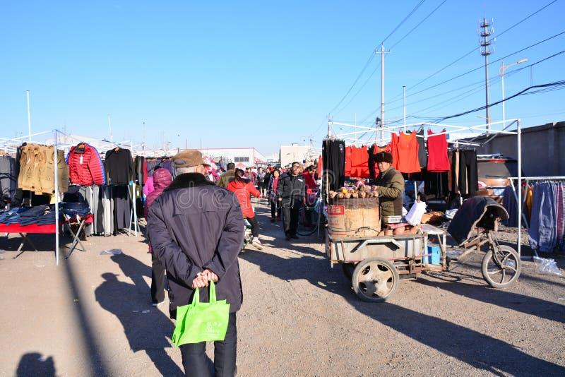 Mercado rural de los granjeros en Pekín imagen de archivo