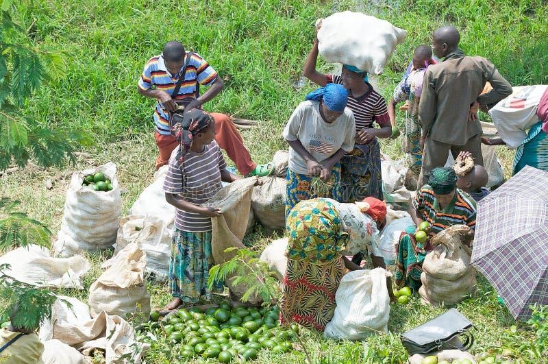Mercado rural en Rwanda fotografía de archivo