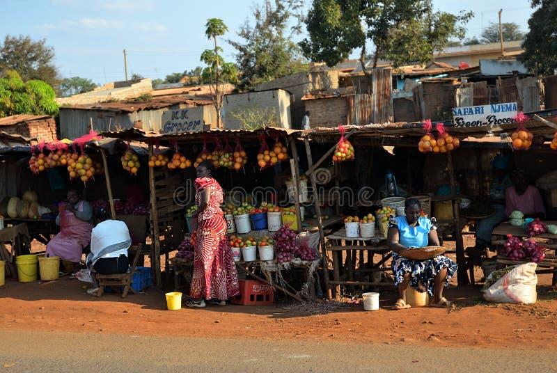 Mercado rural, Kenya imagem de stock royalty free