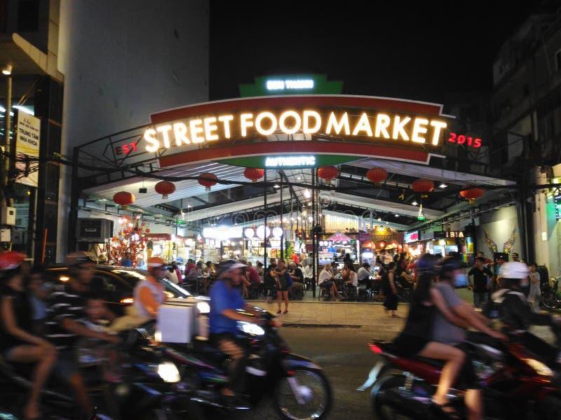 Mercado Saigon de la comida de la calle fotografía de archivo