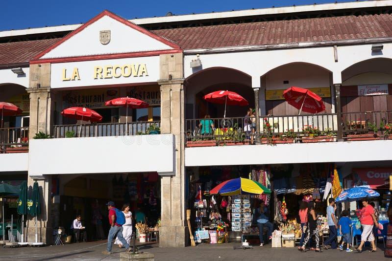 Mercado Salão de Recova do La no La Serena, o Chile imagens de stock royalty free