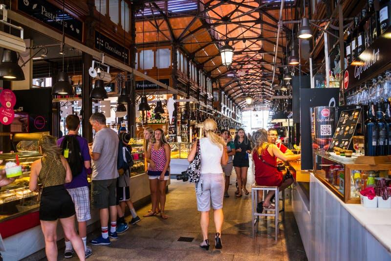 Mercado San Miguel in Madrid, Spanje royalty-vrije stock foto