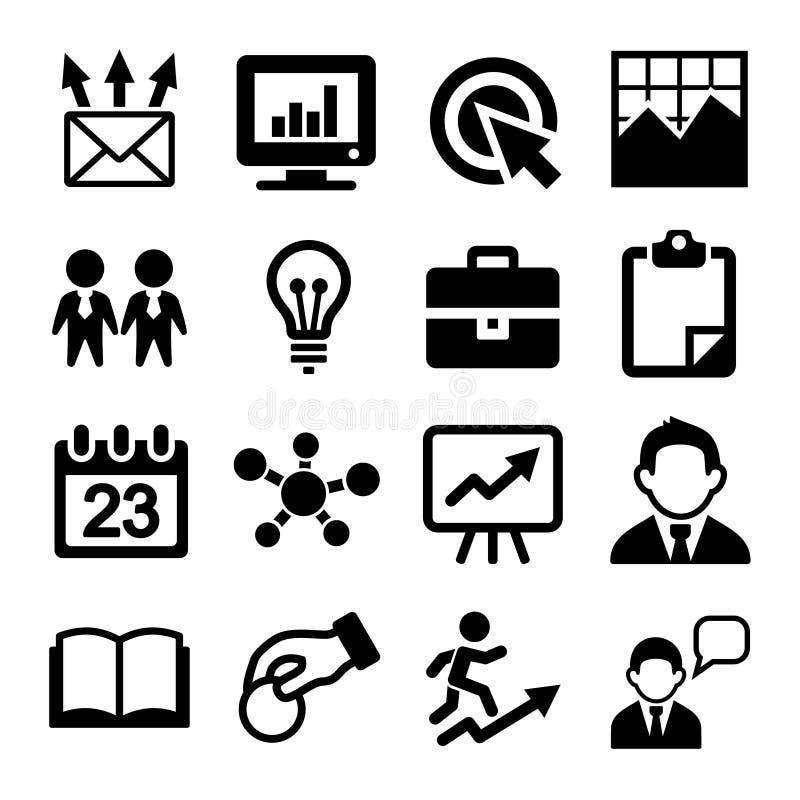 Mercado, SEO e ícones do desenvolvimento ajustados ilustração royalty free