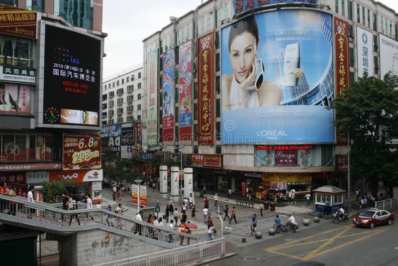 Mercado Shenzhen de Dongmen fotos de archivo