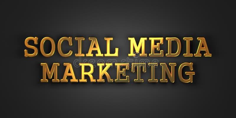 Mercado social de Medi. Conceito do negócio. ilustração stock