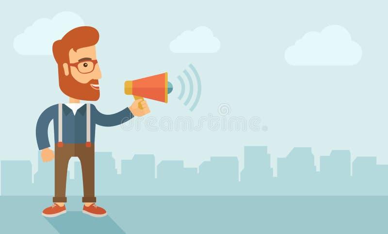 Mercado social dos media ilustração royalty free
