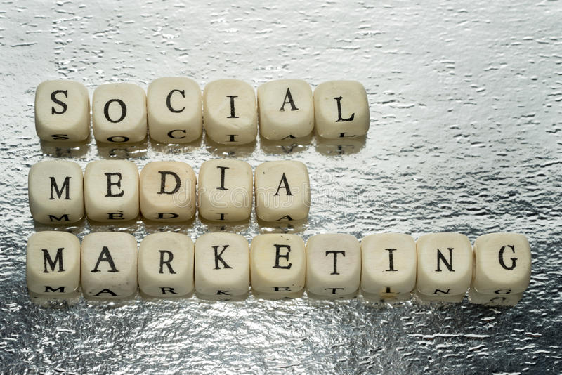 Mercado social dos media fotografia de stock