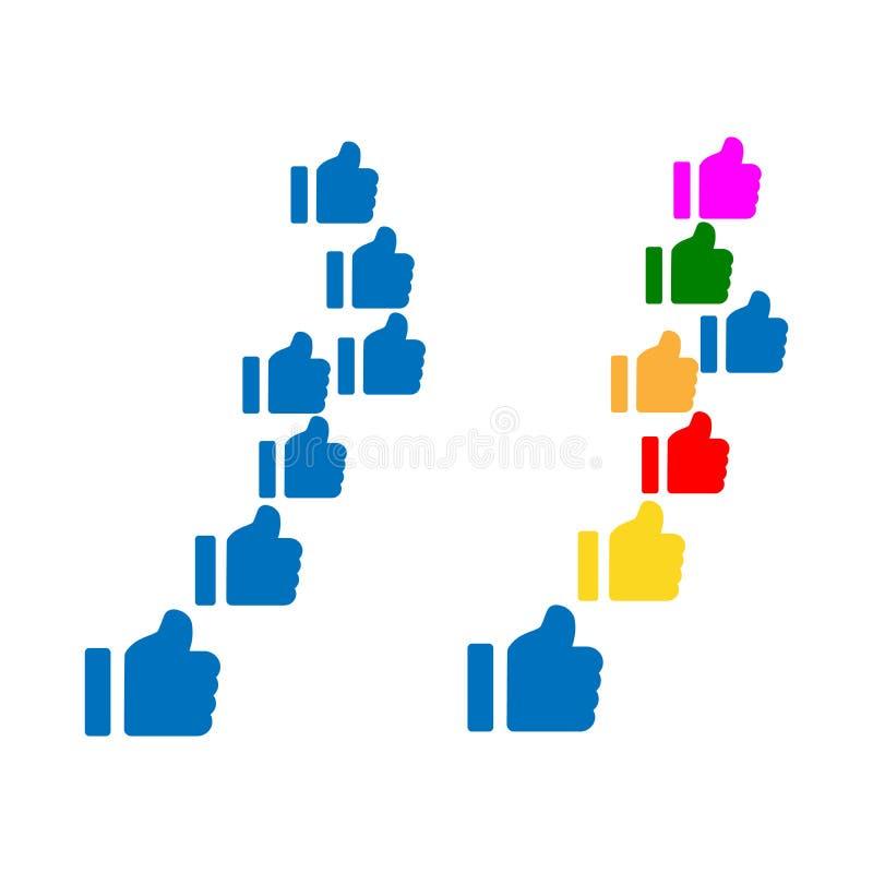 Mercado social dos meios, comentário do conceito dos trabalhos em rede de uma comunicação, amigo, gosto, parte, alvo, mensagem Ve ilustração stock