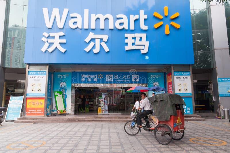 Mercado super de Walmart fotografia de stock royalty free