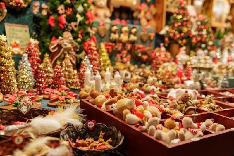 Mercado tradicional de la Navidad fotografía de archivo libre de regalías