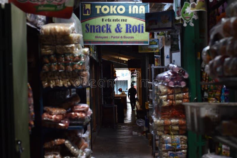 Mercado tradicional de Sleman, Yogyakarta foto de stock
