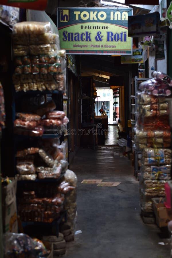 Mercado tradicional de Sleman, Yogyakarta imagem de stock royalty free