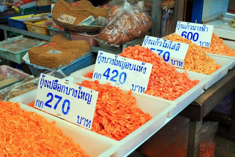 Mercado tradicional do alimento de Tailândia fotos de stock