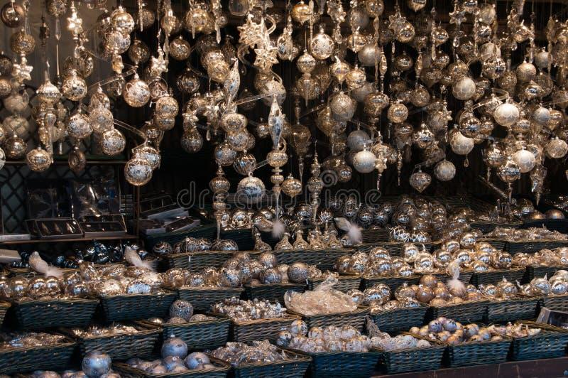 Mercado tradicional do Natal foto de stock