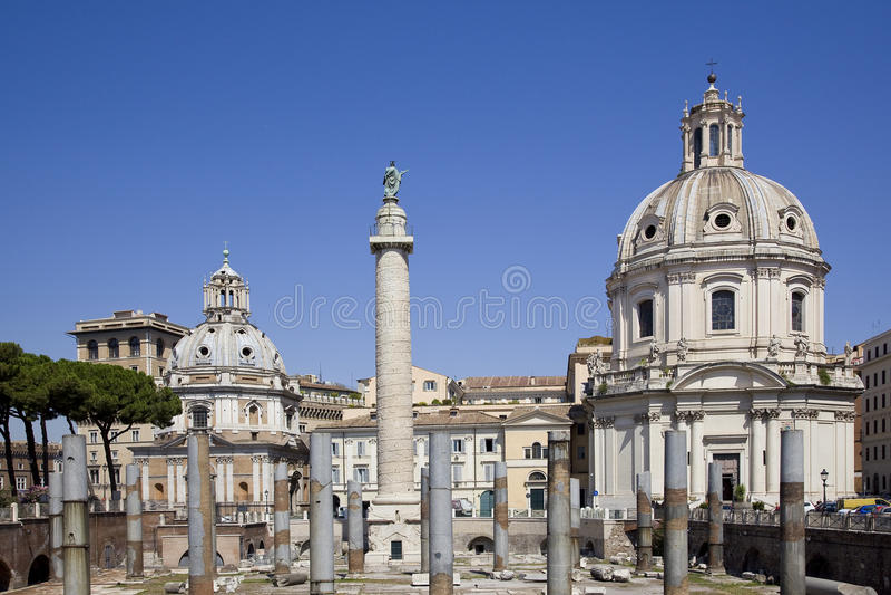Mercado trajan antiguo en Roma imagen de archivo