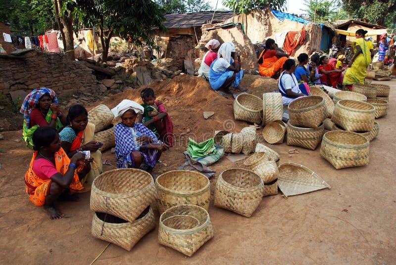 Mercado tribal fotografía de archivo libre de regalías